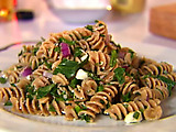 Whole-Wheat Pasta Salad with Walnuts and Feta Cheese