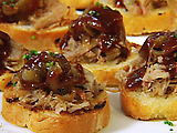 BBQ Pulled Pork Bruschetta