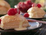 Puff Pastries with Raspberries and Orange Sabayon