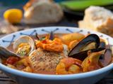 Bouillabaisse with Seared Halibut