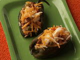 Poblano Stuffed with Chorizo, Shrimp and Rice