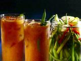 Roasted Mary with Hot Pickled Green Beans