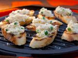 Pea and Ricotta Crostini