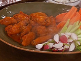 Buffalo-Style Wings with Emeril's Wing Sauce, Seasoned Fries and Crudite with a Blue Cheese Dressing