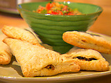 Chicken and Bean Puff Pastry Empanadas