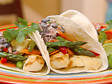 Fish Soft Tacos with Pico De Gallo-Black Bean Sauce
