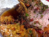 Crown Roast of Pork with Crawfish and Mirliton Stuffing and Crawfish Bordelaise Sauce