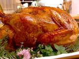 Fig-Glazed Roast Turkey with Cornbread Stuffing