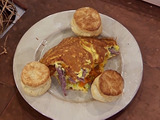 Country Ham and Cheddar Omelet