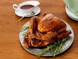 Pomegranate-Glazed Turkey With Wild Rice Stuffing