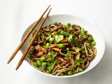 Soba Noodles with Shiitakes and Edamame