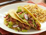 Turkey Tacos with Spicy Tomatoes