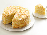 Toasted Coconut Cake With Coconut Filling and Buttercream