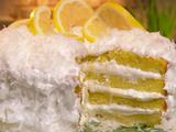 Coconut and Lemon Curd Cake