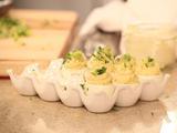 Caesar Stuffed Eggs