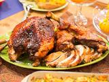 Cider-Brined Turkey with Maple-Cider Glaze