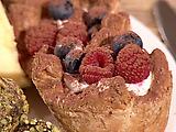 Raspberry and Blueberry Almond Tart