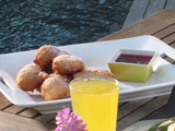Lemon Ricotta Fritters with Fresh Berry Jam