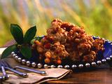 Deep-Fried Black-Eyed Pea and Ham Bites with a Sweet Cranberry Dipping Sauce