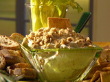 Olive and Garlic Soft Cheese Spread with Whole-Grain Baguette