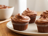 Double Feature Cupcakes with Mexican Hot Chocolate Frosting