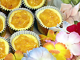 Peaches 'N Cream Cheesecake Cupcakes