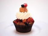 Peach-Berry Shortcake Cupcakes