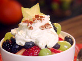 Fruit Salad with Cream Cheese-Pecan Topping