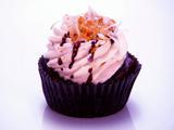 Dark Chocolate Samoa Cupcakes