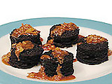 Chockablock Chocolate Cakes with Warm Macadamia Nut Goo