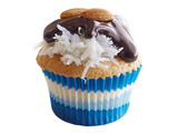 Coconut Cupcakes with Chocolate and Almonds