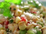 Creamed Corn Succotash with Cotija
