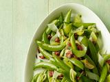 Sugar Snap Peas With Leeks and Pancetta