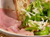 Snap Peas with Pancetta and Parmesan