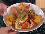 Carribean Lobster Stew with Spicy Fritters