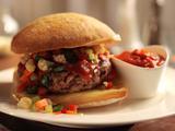 Fried Meatball Sandwich with Giardiniera