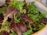 Simple Green Salad with Honey Tomato Vinaigrette