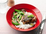 Chicken with Snap Peas and Shiitakes