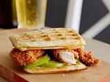 Crispy Chicken and Scallion Waffle Sandwich