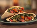 Skirt Steak Fajita Pita with Chimichurri