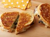Roasted Poblano and Mushroom Grilled Cheese