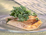 Smoked Turkey, Brie, and Apricot Quesadilla