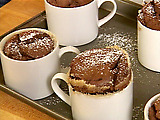 Chocolate Souffle with Espresso Creme Anglaise