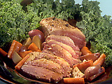 Beer Braised Corned Beef with Red Potatoes and Carrots