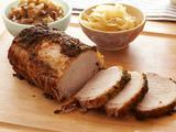 Roasted Pork Loin with Cider and Chunky Applesauce