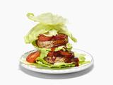 Teriyaki Salmon Burger Lettuce Wraps