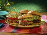 Tassa's Turkey Cornucopia Burger with Paprika Aioli