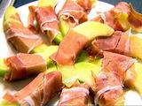 Melon Wrapped In Prosciutto