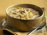 White Chicken Chili with Aged Cheddar