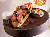 Broiled Flank Steak with Tomato-Scallion Relish